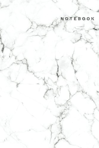 Notebook: White Marble Notebook-Dot Grid Notebook, A5 Dotted Notebook journal, Dairy, 120 pages-White Marble Composition Notebook v.2