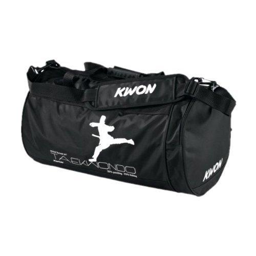 Know, Borsone sportivo da allenamento Taekwondo, Nero, 48 x 24 cm