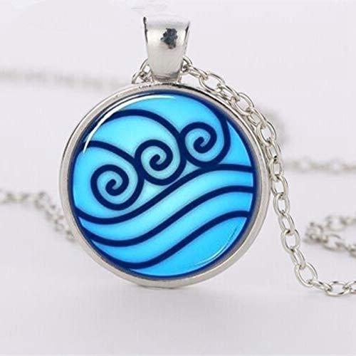 Avatar's Last Airbender Halskette, Kor's Legend Aquarium Tribe Glas Anhänger Kleidung Zubehör Halskette