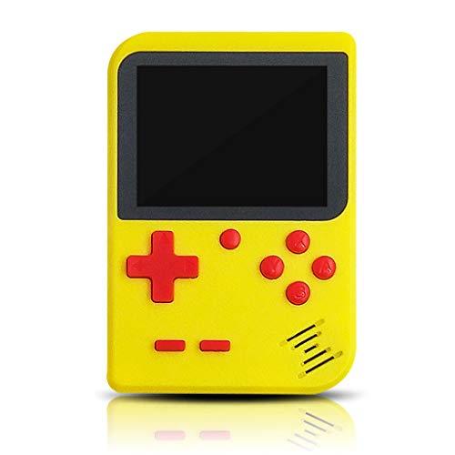 Junlinto, Console de Jeu Mini-Ordinateur de Poche rétro Portable 8 Bits, écran de Couleur LCD 2,8 po intégré 400 Joueurs Lecteur vidéo Portable pour Enfants à la télé Jaune