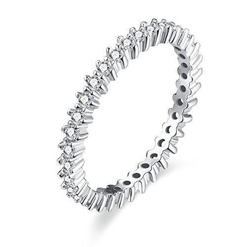 Kingwin Jewelry Mujer    Metal base chapado en rodio redondo   incoloro circonita