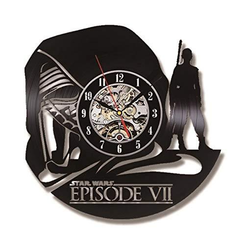 Guokee Handgemachte Vinyl Cd Rekord Uhr Hohl Todesstern Antik Stil Hängende Uhr Runde Dekoration Uhr 12Inch
