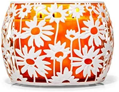 Bath and Body Works Daisies 3 Wick Candle Holder.