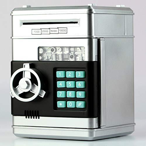 YXDS Niños de Dibujos Animados Banco de Dinero electrónico Seguridad Hucha Mini ATM contraseña Monedas Caja de Ahorro de Dinero Juguetes de Voz Inteligente