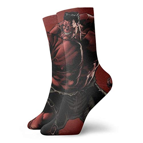 LREFON Calcetines de compresión Hu-LK Socks Crew Funny Casual Unisex Print Tobillo Deporte Calcetín