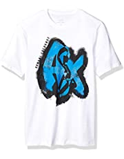 A X Armani Exchange Men's Short Sleeve Graffiti Graphic T-Shirt