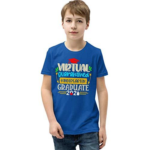 AidaShopGift Virtual Kindergarten Graduate 2021 Quarantined Youth T-Shirt for Kids, Kindergarten 2021 Shirt