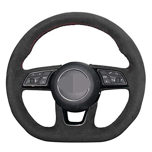 NASHDZ Cubierta del Volante del Coche, para Audi A4 (B9) A3 (8V) Avant A1 (8X) A5 (F5) Sportback Q2 2016-2019