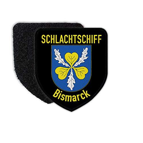Copytec Patch 75x65 Schlachtschiff Bismarck Deutsche Kriegsmarine Schwesterschiff #34731