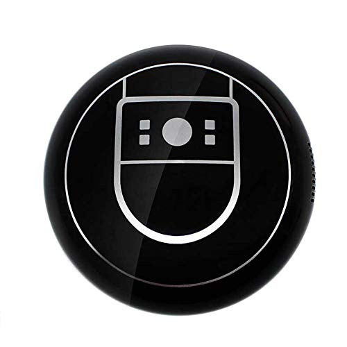 UPANV Aspirador Robot, Sensores De Succión Fuertes, Carga USB Aspirador Automático Inteligente para Pisos con Robot Ideal para Pelo De Mascotas, Piso Duro Y Alfombra De Pelo Bajo,Negro