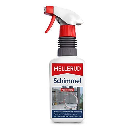 MELLERUD Schimmel Vernichter Aktivchlor – Hocheffektives Spray zur Schimmelentfernung auf Fliesen, Fugen, Wänden, Decken u. v. m. – 1 x 0,5 l