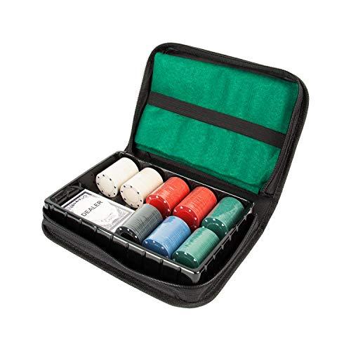 Global Gizmos 45409 Texas Hold'em Juego de póquer de Viaje | Patatas...