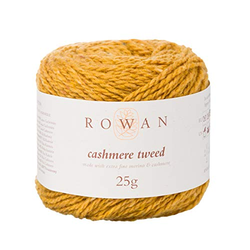 Rowan 9802208-00010 Handstrickgarn, 80% Schurwolle, 20% Kaschmir, Mustard, onesize