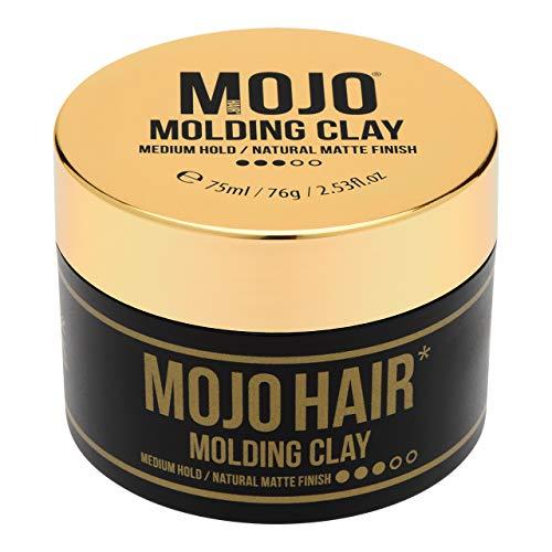 Mojo Hair Molding Clay   Hair Clay for Men   Medium Hold Natural Matte...