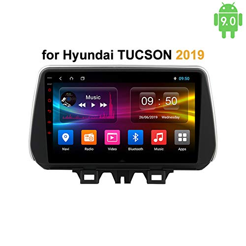 LHWSN Für Hyundai Tucson 2019 Android 9.0 Autoradio Bluetooth GPS Navigation WiFi FM AM/RDS HiFi AUX SWC Autoradio 9