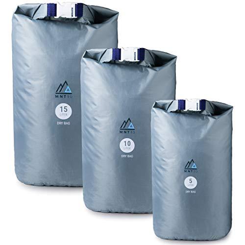 MNT10 Dry Bag Ultralight I Drybag in 5l, 10l, 15l I Taschen wasserdicht Ultra-Light für Reisen, Outdoor und Camping I Beutel wasserdicht, leicht & widerstandsfähig (15 Liter)