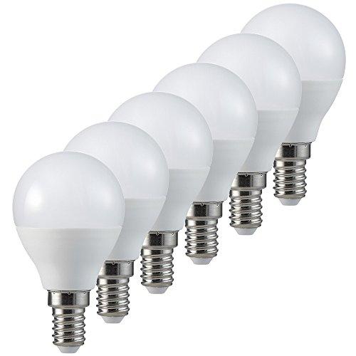 MÜLLER-LICHT 400300_Set A+, 6er-Set 3-in-1 LED Tropfenform Switch Dim ersetzt 40 W, Plastik, 5.5 W, E14, weiß, 4.5 x 4.5 x 8.1 cm