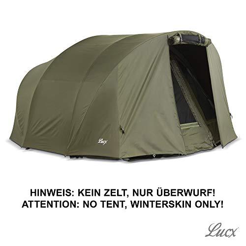 Lucx® Winterskin/Überwurf/Overwrap für Leopard Bivvy/Angelzelt/Karpfenzelt/Carp Dome (Kein Zelt nur Überwurf)