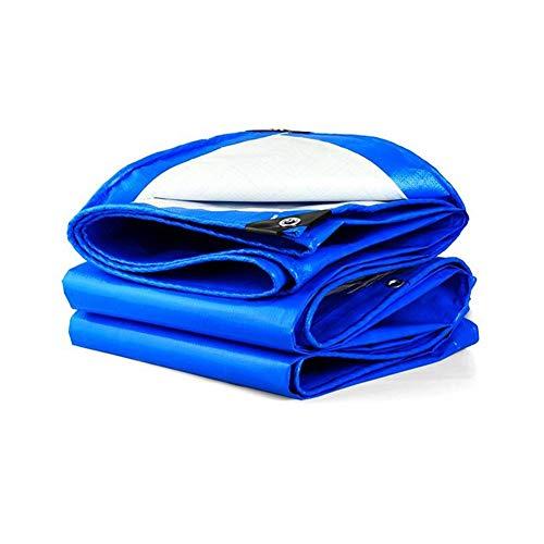 RENJUN Cubierta de madera de linóleo para cobertizo de camiones pesados, cubierta para carpa (color: azul, tamaño: 4 x 4 m)