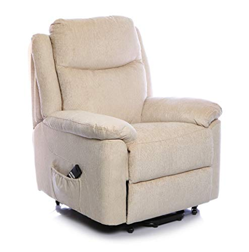BetterLife The Evesham - Mobility Riser Recliner Arm Chair - In Choice of 3 Fabrics (Cream)