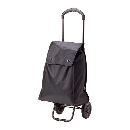 IKEA KNALLA–Einkaufstasche auf Rädern, schwarz–75x 58x 201cm