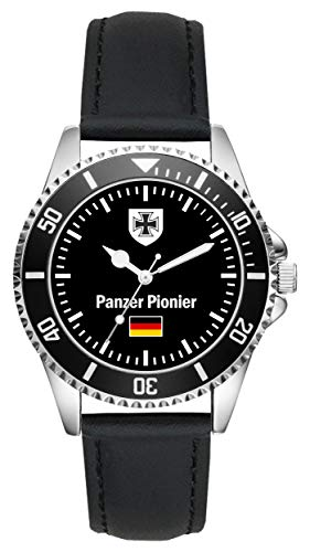 Soldat Geschenk Bundeswehr Artikel Panzer Pionier Uhr L-1026