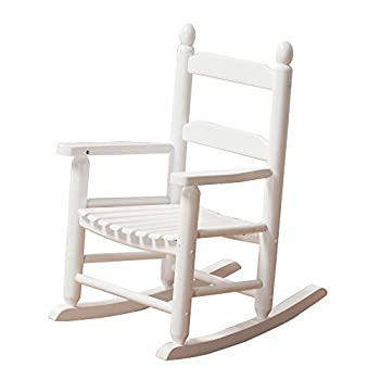 B&Z KD-20W Rocking Kid s Chair Wooden Child Toddler Patio Rocker Classic Ages 3-6