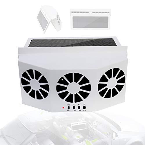 Ventilador Radiador Coche PortáTil, Reciclar Ventilador Escape Coche EnergíA Solar Ruido Bajo, Car Ventilador Radiador Enfriar Rapidamente VentilacióN Vigorosa,A