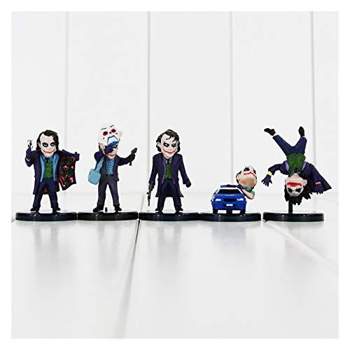 Htipdfg Figura de acción 5pcs / Lote superhéroes la Figura de acción de PVC de Joker Modelo de colección de Llavero Juguete (Color : 5pcs with Box)