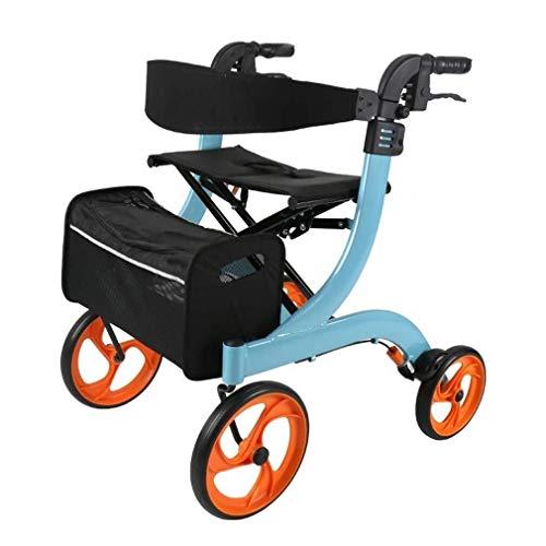 Fhxr Aluminium Winkelen Opvouwbare Rollators 4 Seat Rider Kan Zitten Op De Oudere Walker wandelwagen Kan Zitten Licht En Lopen