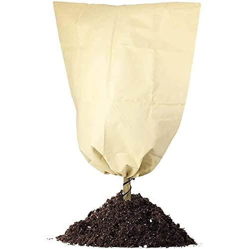 Plantas Cubierta Protección Invierno, Tela No Tejida con Cordón Bolsa, Se Utiliza para la Protección de Plantas contra el Frío/Congelación/Viento y Nieve,100x80cm