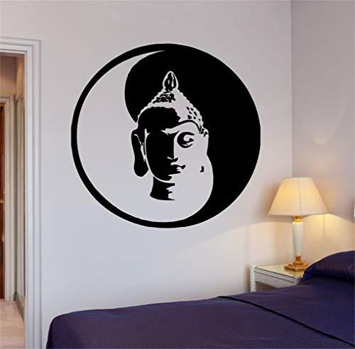 Stickers Muraux Bouddha Yin Yang Yoga Méditation Om Décor Pour Le Salon