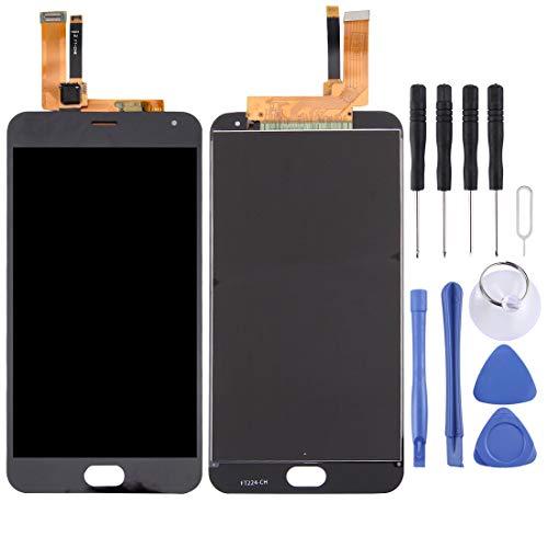 LUOFUSHENG LCD Piezas reparación de la Pantalla Meizu M2 Note/Meilan Note 2 Pantalla LCD y digitalizador Asamblea asamblea de digitalizador Completo (Color : Black)
