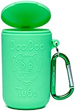 Doo Doo Tube Filled Dog Waste Bag Holder - Reusable Dog Poop Bag Tube Designed to Keep in Odors and Germs
