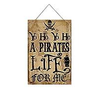 Yo Ho A Pirates Life For Me木製のリストプラーク木の看板ぶら下げ木製絵画パーソナライズされた広告ヴィンテージウォールサイン装飾ポスターアートサイン