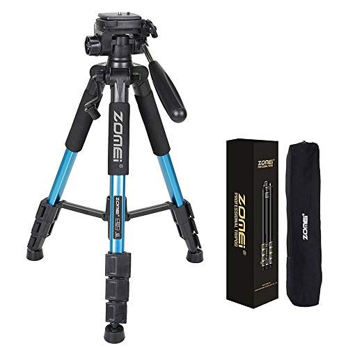 """55"""" Professional Aluminum Alloy Camera Tripod for DSLR Canon Nikon Sony DV Video and Smar.A Portable Pocket Makes It Easy to Carry. Best Choice for SLR Camera in Your Travel"""
