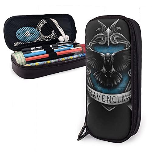 Ravenclaw - Estuche de piel para lápices y artículos de papelería para oficina y almacenamiento portátil