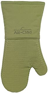 All-Clad Textiles Heavyweight 100-Percent Cotton Twill and Silicone Oven Mitt, Sage by All Clad Textiles