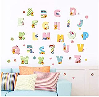 Kids Animal Alphabet Wall Decals: Cute Removable ABC Wall Stickers for Toddler Boys and Girls Rooms - Large Educational Le...