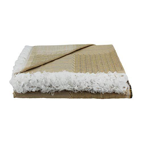 Desconocido Colcha Multiusos para Sofa, Manta Foulard, Plaid, cubrecama. (Amarillo, 180x290)