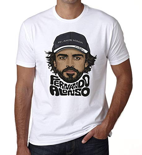 Fernando Alonso Mens T Shirt Kids World Champion Racing Driver DT