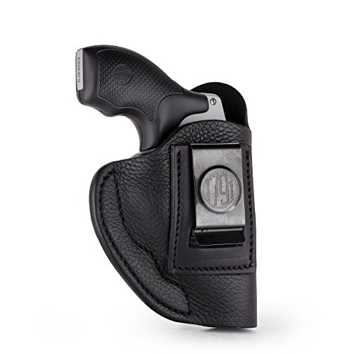 1791 GunLeather J Frame Premium Leather IWB CCW Holster - Soft & Comfortable Right Handed Leather Gun Holster - Fits All J Frame Revolvers Models S&W, Ruger LCR and SP101. Max Barrel = 2.5' (SCH-2)