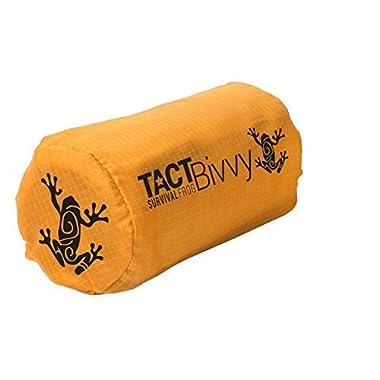 Tact Bivvy Emergency Survival Compact Sleeping Bag - Lightweight, Waterproof Bivy Sack Emergency Blanket with HeatEcho Thermal Space Blanket Material, for Survival Kit, Camping & Survival Gear