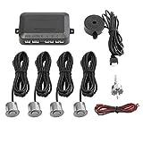 Sensor de Aparcamiento Set 4 Copia de Seguridad automática Alerta Engranaje inversa backupassist Car Kit Aparcamiento Alarma, Gris