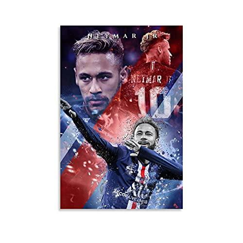 HUANGJINDA Neymar Jr Art Poster Decoratief Schilderij Canvas Muur Art Woonkamer Posters Slaapkamer Schilderen 20×30 inch…