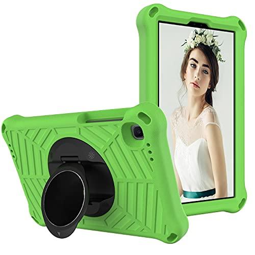 SZCINSEN Funda para tablet Samsung Galaxy Tab A7 Lite de 8.7 pulgadas (2021) SM-T220/SM-T225, a prueba de golpes, con soporte giratorio ligero y duradero, correa para el hombro (color verde)