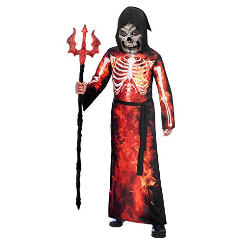 amscan 9905058 Childs Fire Reaper Halloween Fancy Dress Costume Age 6-8 Years