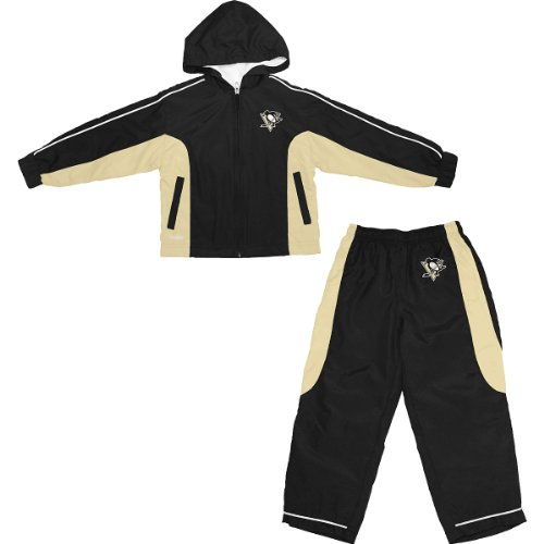 Reebok Pittsburgh Penguins NHL Toddler Windbreaker Jacket & Pants Set - 4T