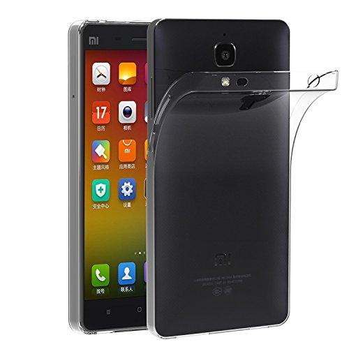 VGUARD Funda Xiaomi Mi 4 Slim Fit Xiaomi Mi 4 Funda Carcasa Case Bumper con Absorción de Impactos y Anti-Arañazos Espalda Case Cover para Xiaomi Mi 4 - Transparente
