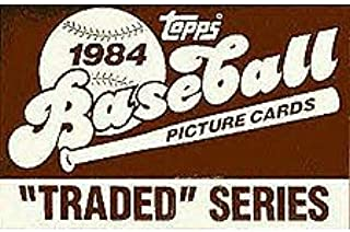 1984 Topps Traded Baseball Series Complete 132 Card Set in Original Factory Set Box. Contains Pete Rose and Tom Seaver, Plus Rookie Cards of Dwight Gooden and Bret Saberhagen Among Others.